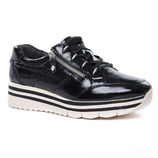 Tennis Et Baskets Mode Tamaris 23739 Black Patent, vue principale de la chaussure femme