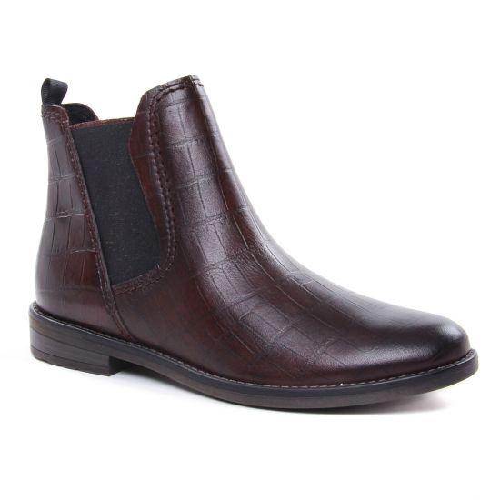Bottines Et Boots Marco Tozzi 25376 Bordeaux Croco, vue principale de la chaussure femme