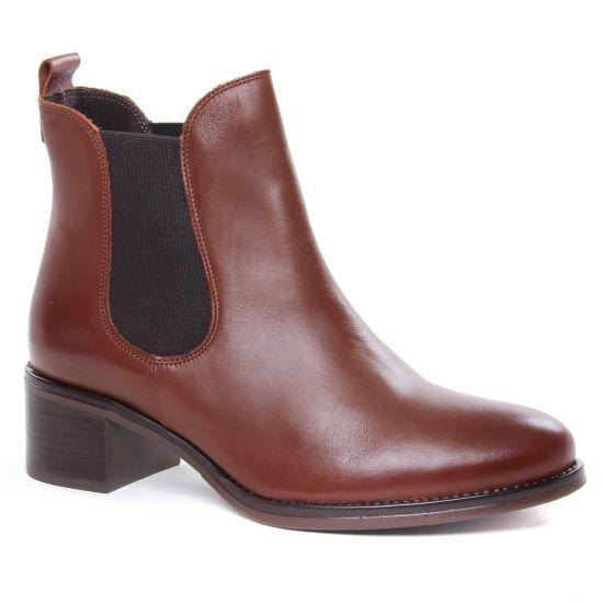 Bottines Et Boots Scarlatine 99120 B Cognac, vue principale de la chaussure femme