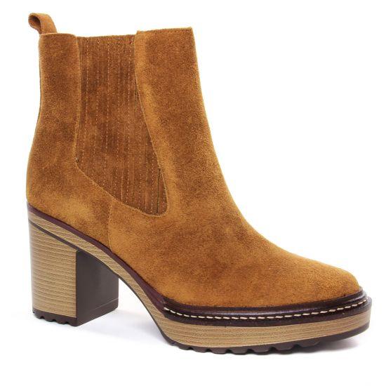 Bottines Et Boots Emilie Karston Grani Camel, vue principale de la chaussure femme