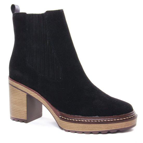 Bottines Et Boots Emilie Karston Grani Noir, vue principale de la chaussure femme