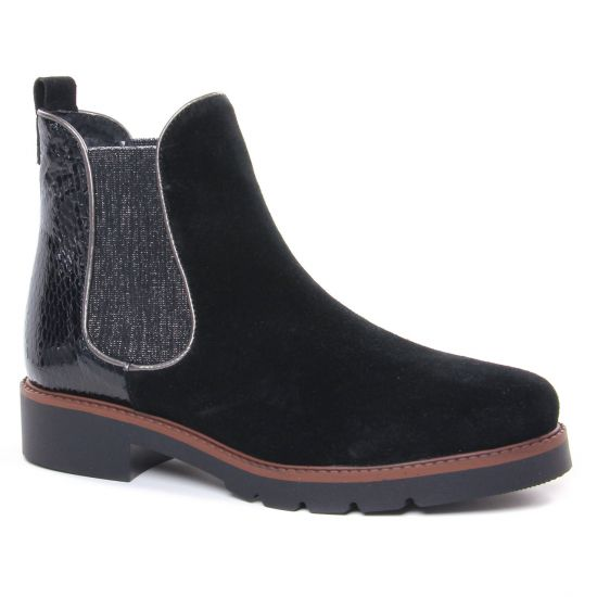 Bottines Et Boots Scarlatine 99334 Bb Velours Noir, vue principale de la chaussure femme