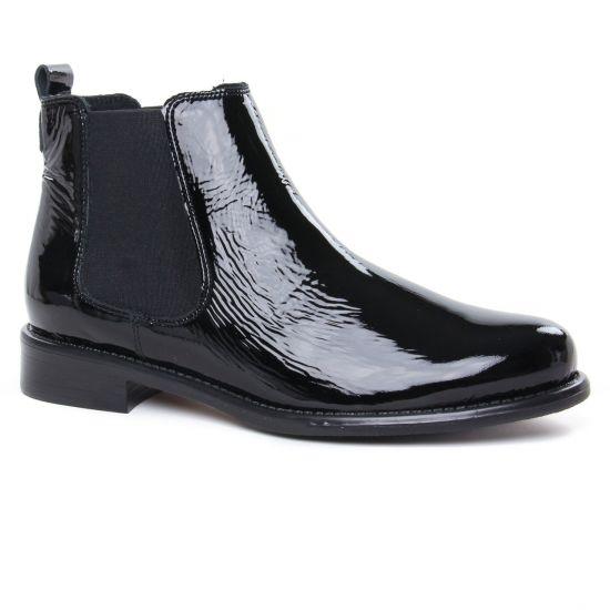 Bottines Et Boots Scarlatine 77545 Be Vernis Noir, vue principale de la chaussure femme