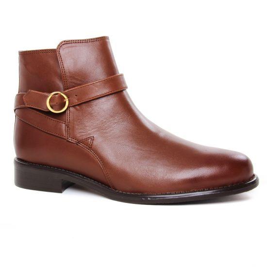 Bottines Et Boots Scarlatine 99327 A Cognac, vue principale de la chaussure femme