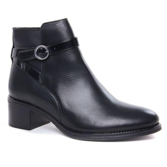 Bottines Et Boots Scarlatine 77768 N Vernis Noir, vue principale de la chaussure femme