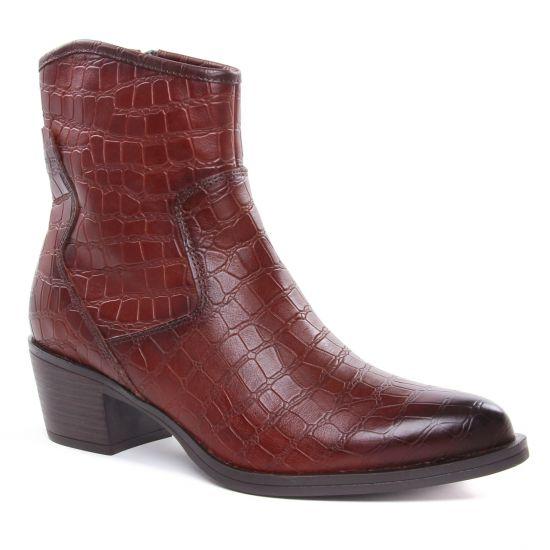 Bottines Et Boots Marco Tozzi 25072 Cognac A Croco, vue principale de la chaussure femme