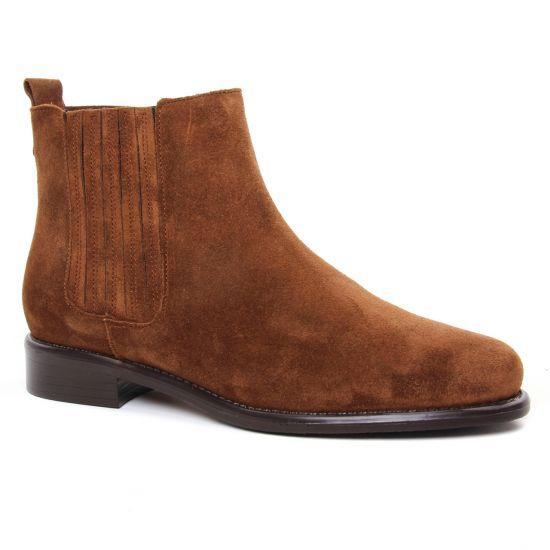 Bottines Et Boots Scarlatine 99223 D Tabacco, vue principale de la chaussure femme