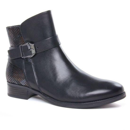 Bottines Et Boots Caprice 25331 Black Snake Co, vue principale de la chaussure femme
