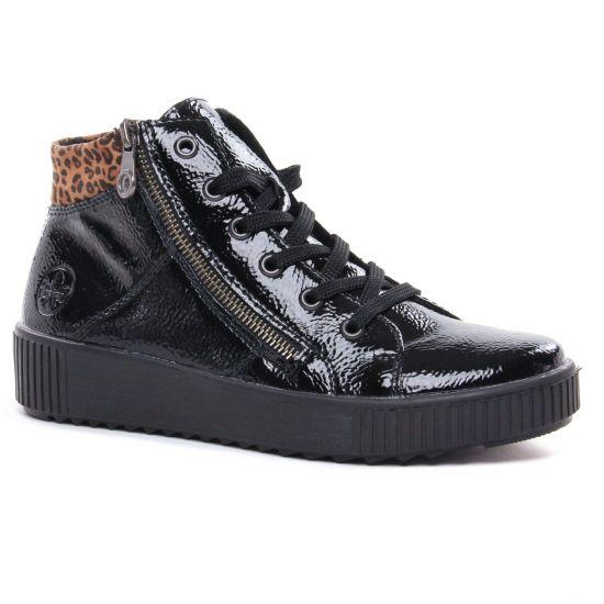 Tennis Et Baskets Mode Rieker M6434-01 Black, vue principale de la chaussure femme