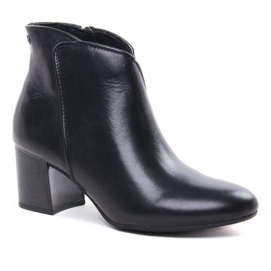 Bottines Et Boots Tamaris 25093 Black Leather, vue principale de la chaussure femme