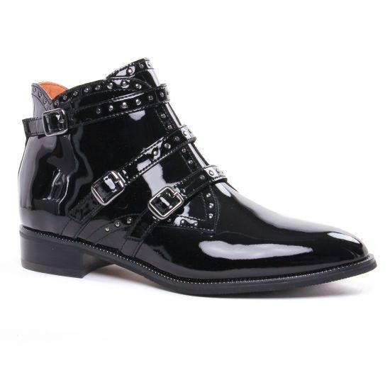 Bottines Et Boots Mamzelle Soprano Vernis Noir, vue principale de la chaussure femme