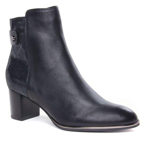 Bottines Et Boots Fugitive Darta Noir, vue principale de la chaussure femme