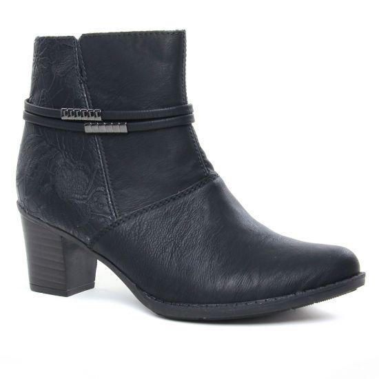 Bottines Et Boots Rieker Z7684-00 Schwarz, vue principale de la chaussure femme