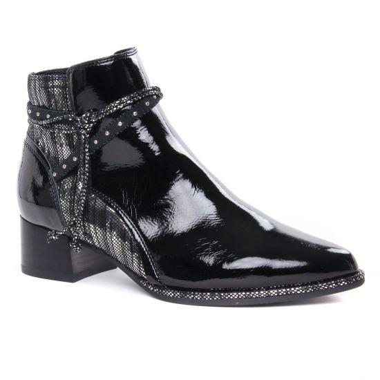 Bottines Et Boots Fugitive Banks Vernis Noir, vue principale de la chaussure femme