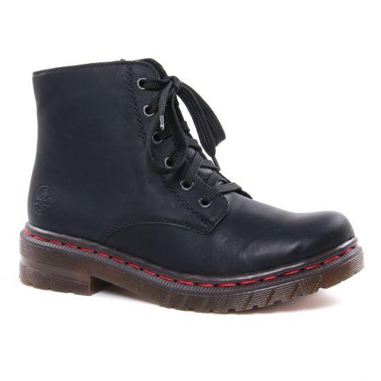 Bottines Et Boots Rieker 76240-00 Noir, vue principale de la chaussure femme
