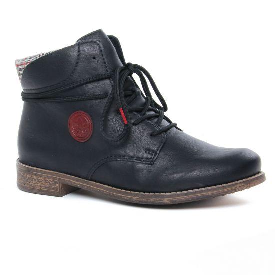 Bottines Et Boots Rieker 77431-00 Schwarz, vue principale de la chaussure femme