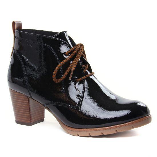 Bottines Et Boots Marco Tozzi 25109 Black Pat Comb, vue principale de la chaussure femme