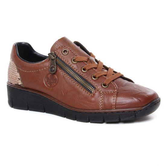 Chaussures À Lacets Rieker 53702-22 Cuoio, vue principale de la chaussure femme