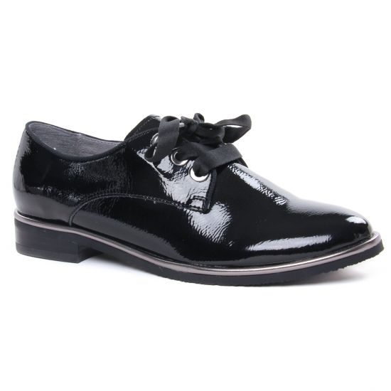 Chaussures À Lacets Fugitive Herne Noir, vue principale de la chaussure femme