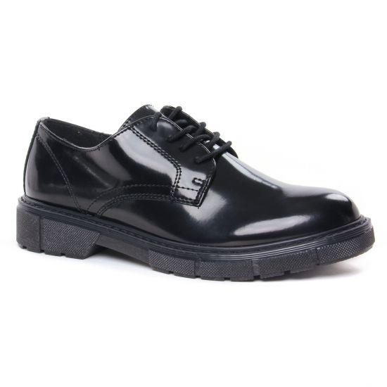 Chaussures À Lacets Marco Tozzi 23741 Black Brush, vue principale de la chaussure femme
