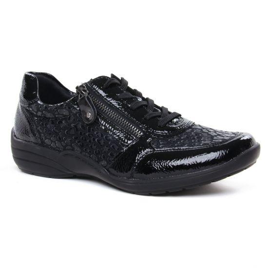 Chaussures À Lacets Remonte R7637-02 Black, vue principale de la chaussure femme