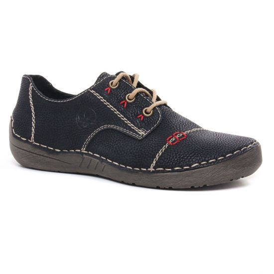 Chaussures À Lacets Rieker 52520-00 Noir, vue principale de la chaussure femme