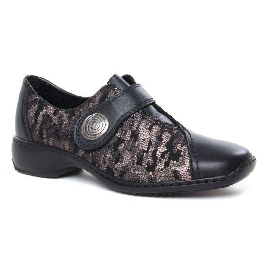 Chaussures À Lacets Rieker L3870-01 Schwarz, vue principale de la chaussure femme