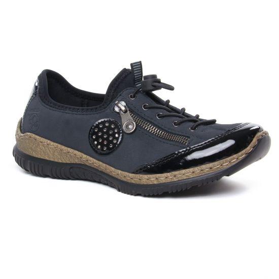Chaussures À Lacets Rieker N3268-01 Schwarz, vue principale de la chaussure femme