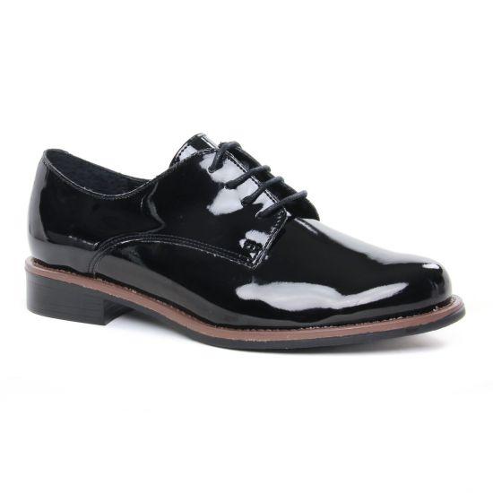 Chaussures À Lacets Scarlatine 22034Cp Vernis Noir, vue principale de la chaussure femme