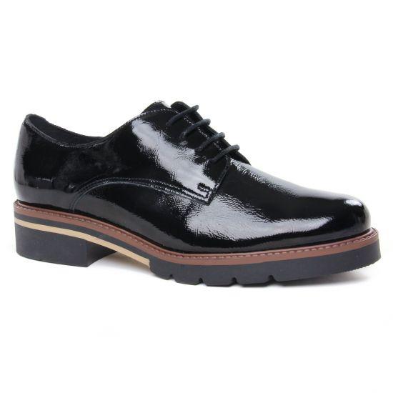 Chaussures À Lacets Scarlatine 22034Ct Vernis Noir, vue principale de la chaussure femme