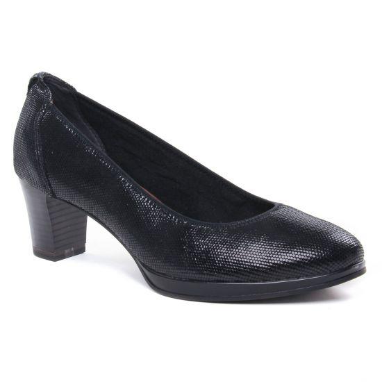 Escarpins Tamaris 22446 Black Struct, vue principale de la chaussure femme