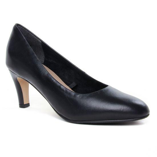 Escarpins Tamaris 22414 Black Leather, vue principale de la chaussure femme