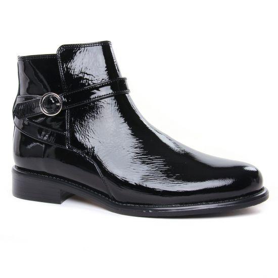 Bottines Et Boots Scarlatine 99327 Av Vernis Noir, vue principale de la chaussure femme