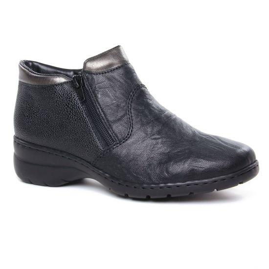 Bottines Et Boots Rieker L4363-00 Schwarz, vue principale de la chaussure femme