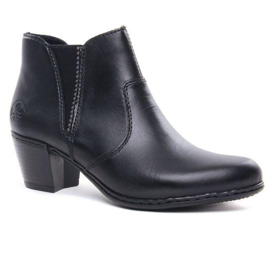 Bottines Et Boots Rieker Y2170-01 Schwarz, vue principale de la chaussure femme