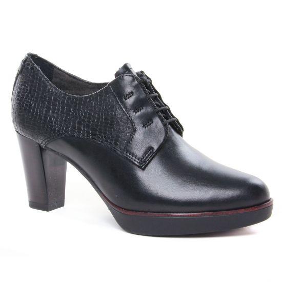 Chaussures À Lacets Tamaris 23309 Black Struct, vue principale de la chaussure femme