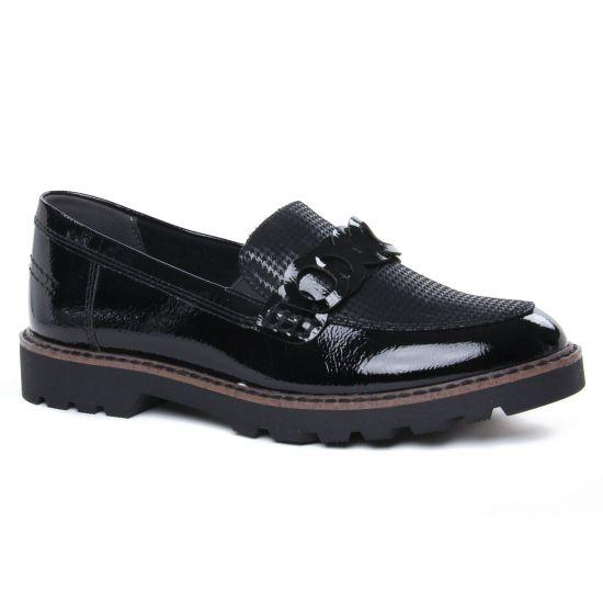 Mocassins Tamaris 24312 Black Comb, vue principale de la chaussure femme