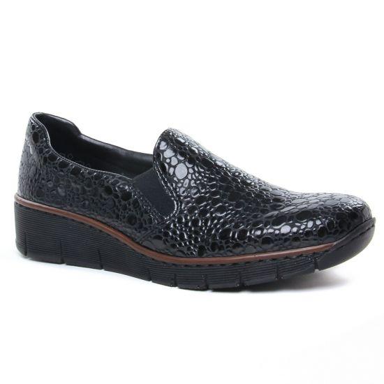 Mocassins Rieker 53766-45 Granit, vue principale de la chaussure femme