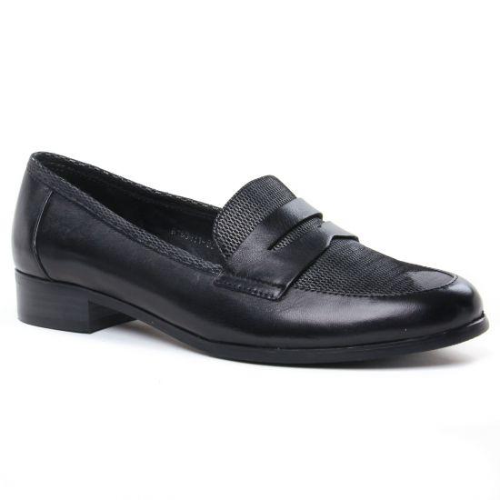 Mocassins Regarde Le Ciel Raquel-08 Black, vue principale de la chaussure femme