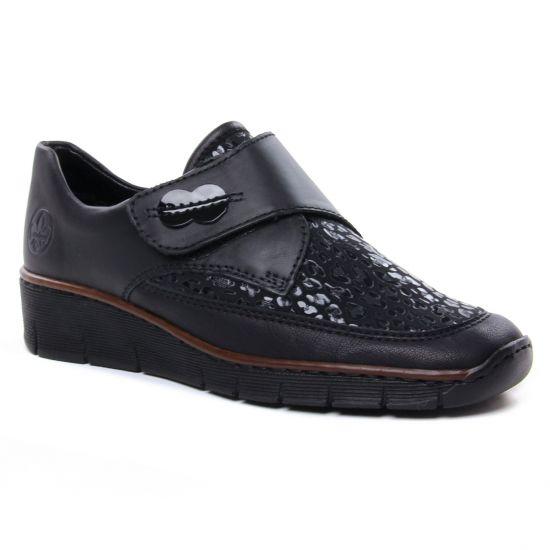 Mocassins Rieker 537Co-00 Schwarz, vue principale de la chaussure femme