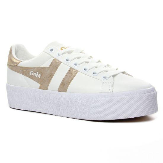 Tennis Et Baskets Mode Gola Orchid Platform White Gold, vue principale de la chaussure femme