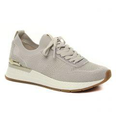 Chaussures femme hiver 2021 - baskets compensees tamaris beige claire
