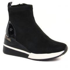 Chaussures femme hiver 2021 - baskets compensees Xti noir