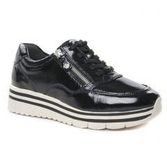 baskets-plateforme vernis noir: même style de chaussures en ligne pour femmes que les Vanessa Wu