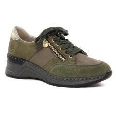 baskets-compensees vert olive: même style de chaussures en ligne pour femmes que les Émilie Karston