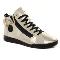 Chaussures femme hiver 2021 - baskets mode Pataugas beige doré