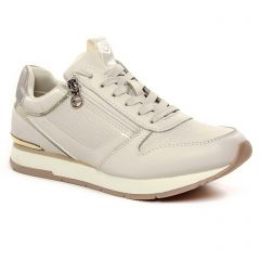 Chaussures femme hiver 2021 - baskets mode tamaris blanc cassé