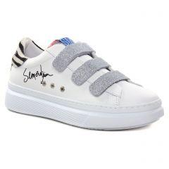 Chaussures femme hiver 2021 - baskets mode Semerdjian SMR23 blanc argent