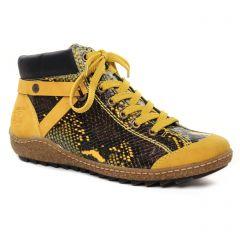 baskets-mode jaune noir: même style de chaussures en ligne pour femmes que les Rieker