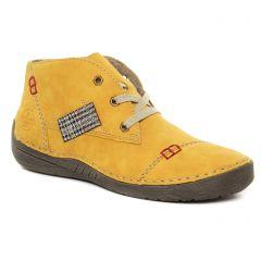 Chaussures femme hiver 2021 - baskets mode rieker jaune